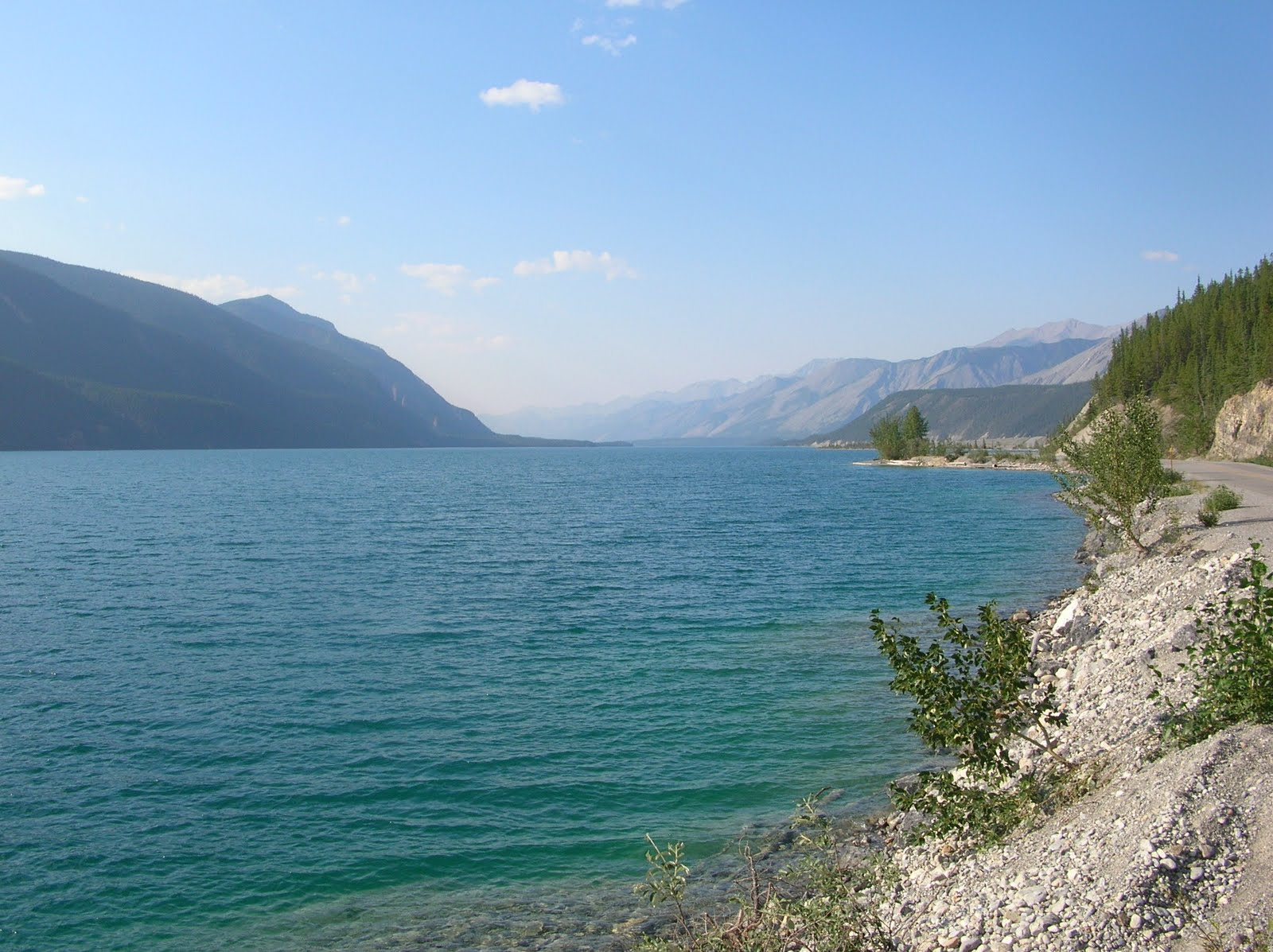 Muncho Lake was a provincial park, and there were several campgrounds ...