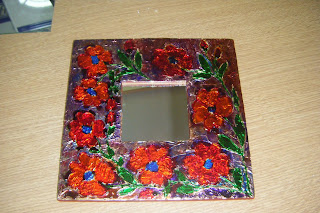 Manualidades de mari espejos decorados - Manualidades espejos decorados ...