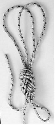 Создание V-образной навески при помощи узла восьмёрка