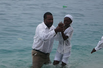 Wilckly Baptizing in the Carribean