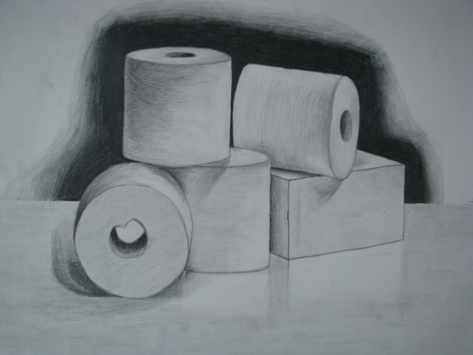 My Art: Sketch of Toilet Paper Rolls