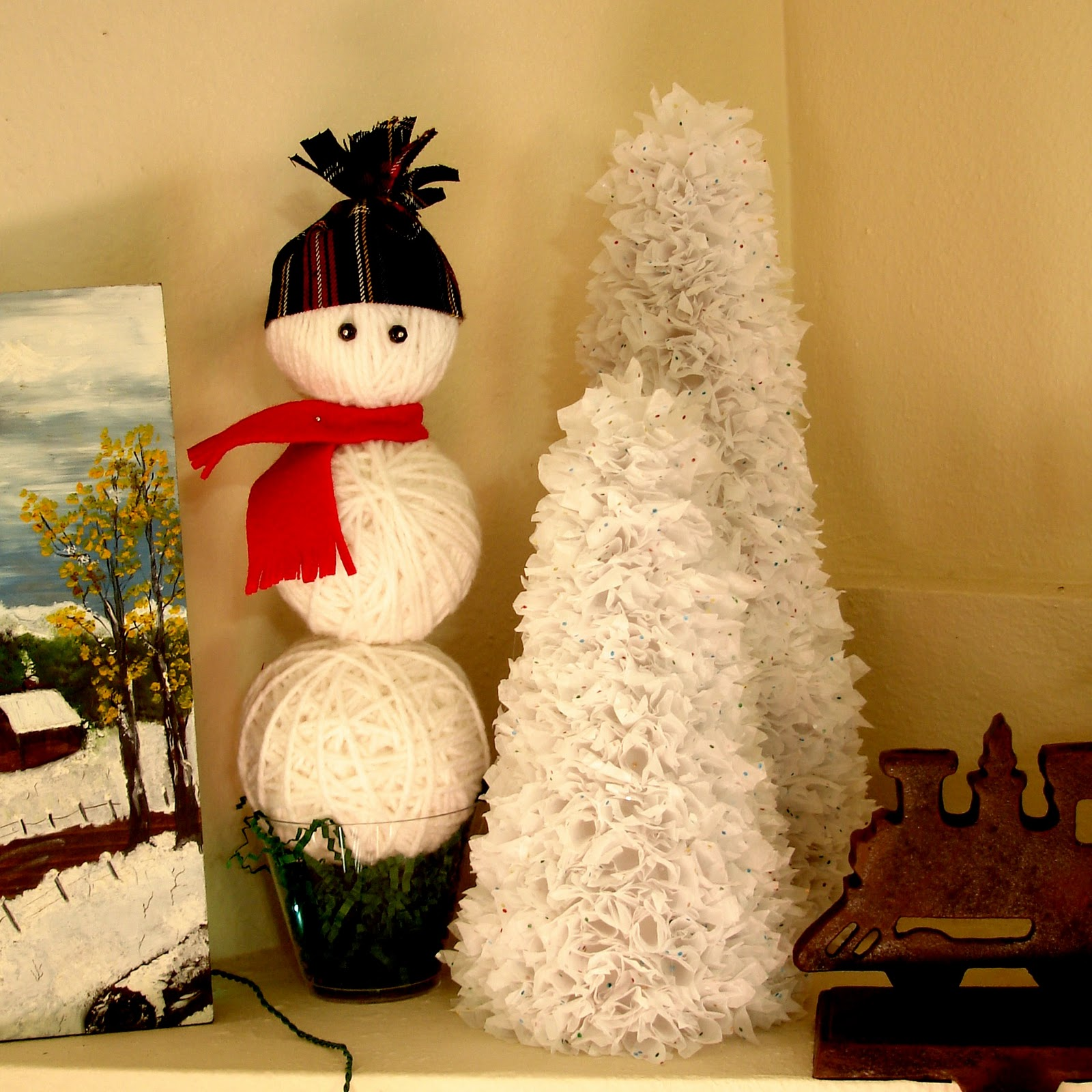Apple loves orange crafting christmas my mantel and new projects - How to make a snowman out of wood planks ...