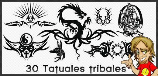 tribales para tatuajes. Otro pack interesante con 30 diseños de tribales para el cuerpo,