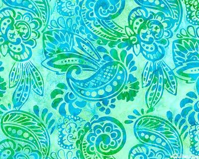 Periwinkle Paisley Paisley Of The Week Turquoise Batik