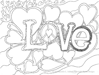 Cute Love Coloring Pages for Adults