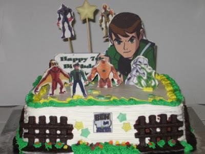 Yet another Ben 10 birthday cake. Nur Qistina's love Ben 10,