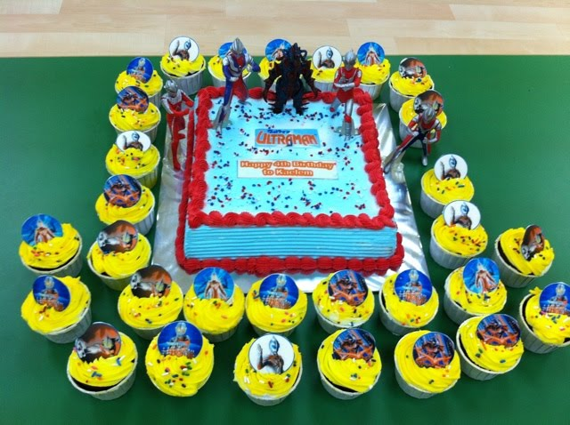 Izahs Kitchen Ultraman Birthday Cake Kaelem