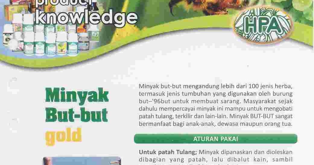 Herba Penawar Alwahida Minyak But But Gold Minyak Herbal