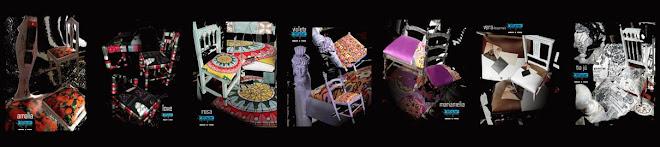 Cadeiras giríssimas criadas pela Ana Guê e o Galrito.