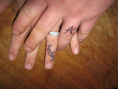 Initial name tattoos on fingers tattoos for boys and girls