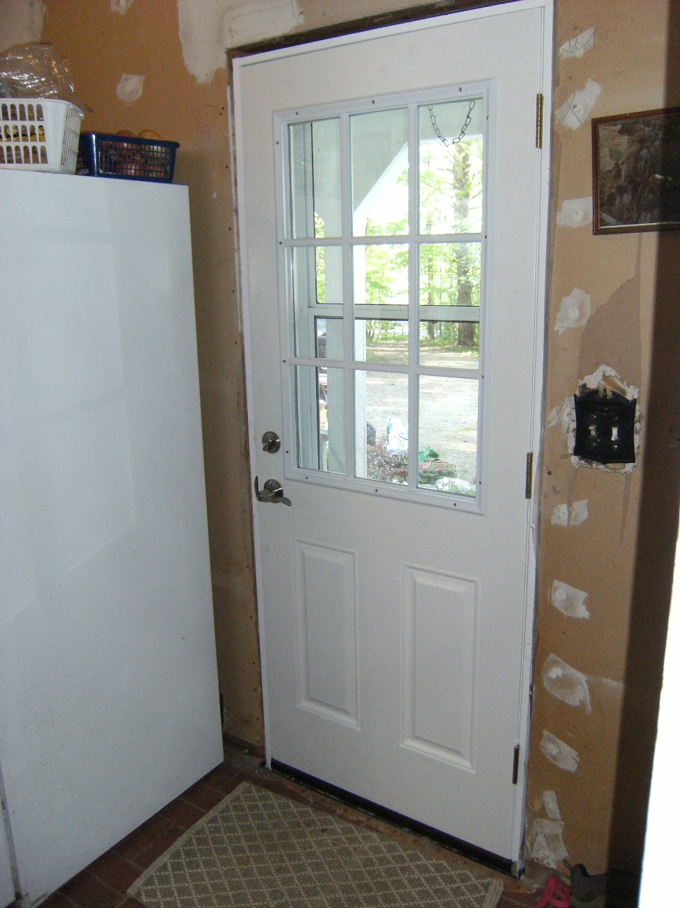 Nicoll carpentry llc september 2010 for Back door with window that opens