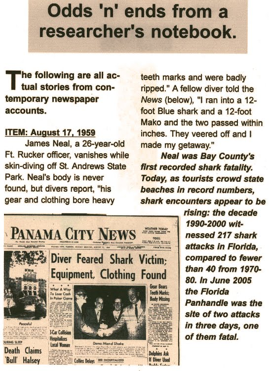 Bay County's first fatal shark attack...