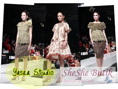 Kebaya koleksi Yasra di show JFW 2010/2011