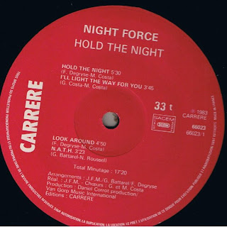 NIGHT FORCE - Hold The Night (LP Carrere 1983)