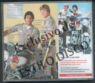 ALAN SILVESTRI - CHiPs OST Vol. 1 Season Two 1978-1979 (Limited Edition) (CD Silver Age Classics FSM 2006)