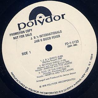 J.B.'s INTERNATIONALS - Jam II Disco Fever (LP Polydor 1978)