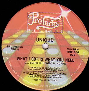 UNIQUE - What I Got Is What You Need (12