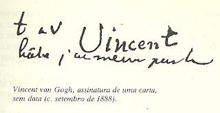Assinatura de Van Gogh numa carta, sem data(c. stembro de 1888)