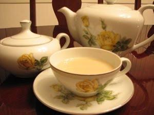 Hojicha tea goes wonderfully with a little milk and sugar creating a nutty milk tea
