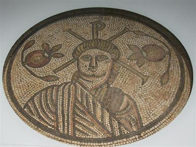 Mosaico romano de Cristo en el British Museum