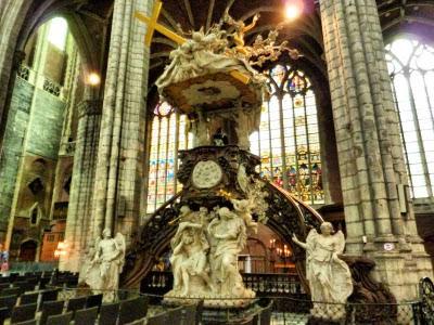 Púlpito de la Catedral de San Bavón de Gante