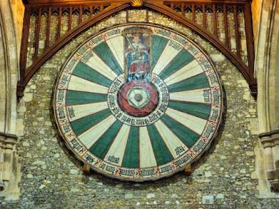 Mesa redonda del Rey Arturo en Winchester