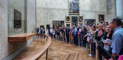 La Gioconda o Mona Lisa en el Museo Louvre de París