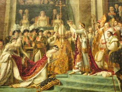 Coronación del Emperador Napoleón I y Josefina en el Museo Louvre de París