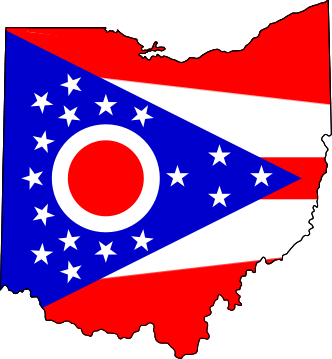 Ohio flag map