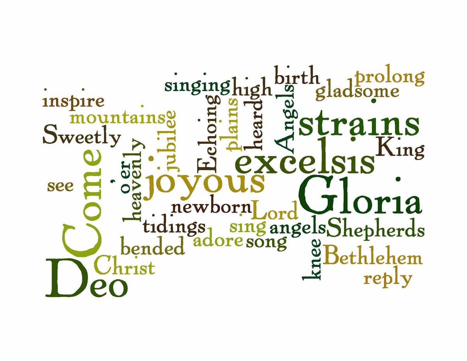 Life with words christmas song word clouds