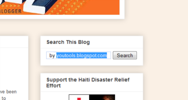 Install Search Bar Widget in Blogspot & Blogger