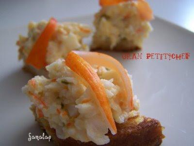 Cocina f cil sin gluten canap de cangrejo for Canape de cangrejo