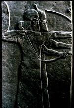 Les snipers de Ninive - marbre de Mossoul, IXe siècle av. J.-C.