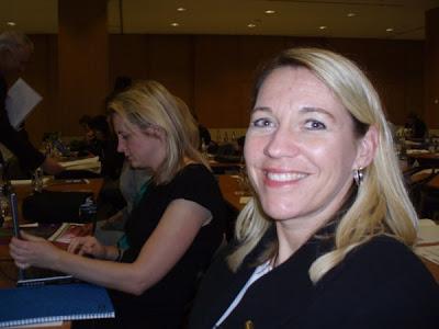 Från vänster: Lisa Harris (Yahoo!, England) Charlotte Thür (TS digitala medier, Sverige)