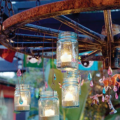 DIY Mason Jar Lanterns I love backyard entertaining barn weddings and