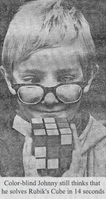 Johnny, o daltônico, e o Cubo Mágico