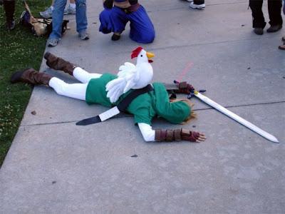 Link morto por uma galinha