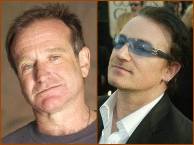 Robin Williams & Bono Vox