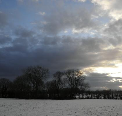 snowy fields near Wainfleet, Lincolnshire