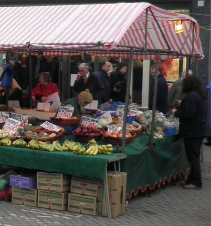 fruit and veg stall on Boston Market