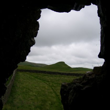 looking out from Bivi Cave to Sugar Loaf Hill