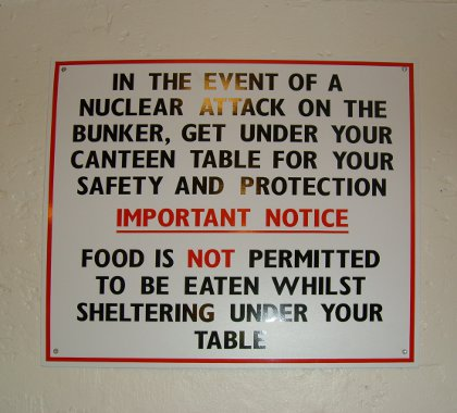 in the event of a nuclear attack on the bunker