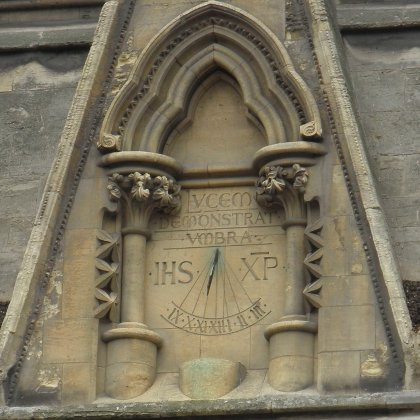 vertical sundial on York Minster
