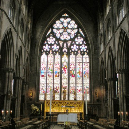 the high altar in Ripon Cathedral