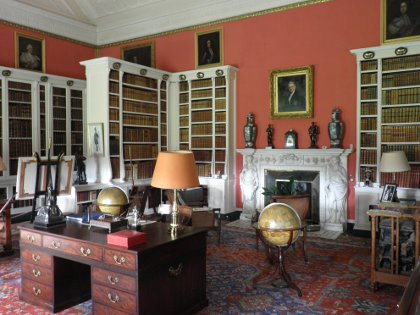 the library at Belton House