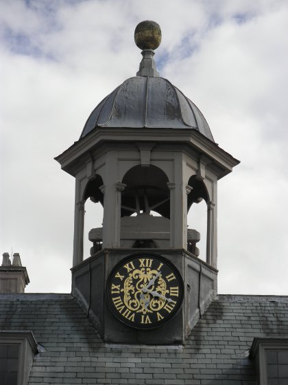 the clock tower at Belton House