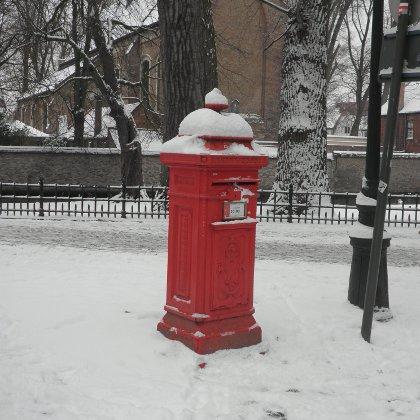 postbox in Bruges, Belgium