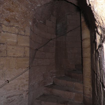 spiral staircase at Castle Rising