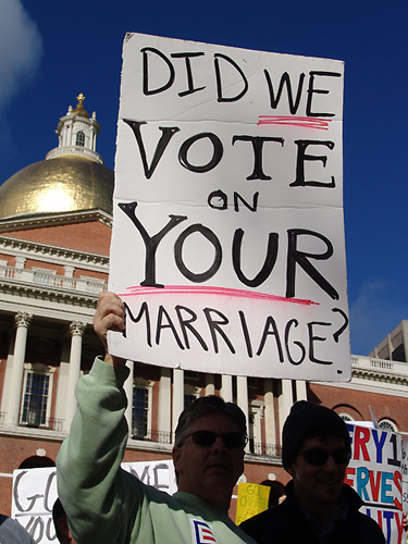 Earlier this month, same-sex couples (and supporters of marriage rights for ...