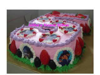 AiRas Home Bites A shaped birthday cake with edible imageand